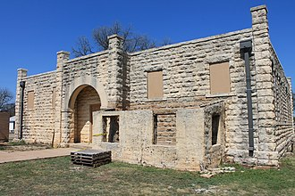 National Register of Historic Places listings in Brown County, Texas - Image: Hardinschool 1
