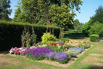 Harris Garden - Flower bed in June.