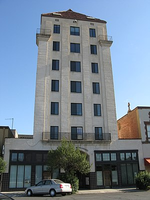 National Register of Historic Places listings in Yuba County, California - Image: Hart Bldg Marysville, CA