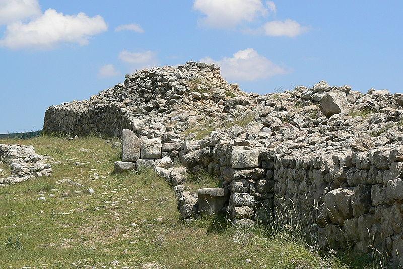 Hattuşaş'ın Kraliyet Kalesi Duvarlarının Kalıntıları