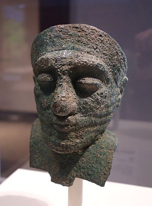 Arsenical copper - Image: Head of a dignitary, Iran, about 2000 BC, arsenical copper Cincinnati Art Museum DSC04606