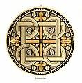 Heiligenkreuz Kreuzgang Glasfenster Rund I.jpg