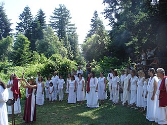 Hellenism (religion) - Ritual performed by members of the Supreme Council of Ethnikoi Hellenes.