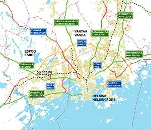 Helsinki region roads