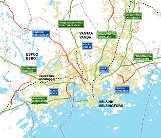 Ring III - Image: Helsinki region roads