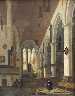 Hendrick van Streeck - The Old Church in Amsterdam..