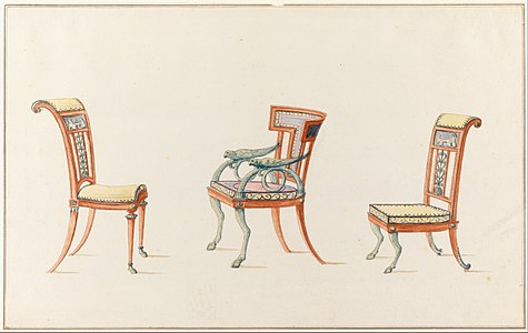 Etruscan Chair Designs By Henri Jacob Brother Of Georges 1790