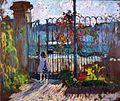 Henri Lebasque - Nono à la grille du jardin de Lagny.jpg