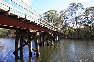 Denmark River - Heritage rail bridge over river