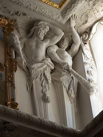 Schleissheim Palace - Atlantes as decoration of the Gartensaal