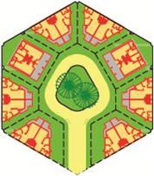 Honeycomb housing -  A small courtyard neighbourhood.