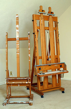 Easel - Two examples of H-frame easels.
