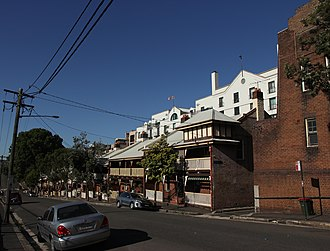 38-72 High Street, Millers Point - 38-72 High Street, with No. 72 pictured at right in 2019.