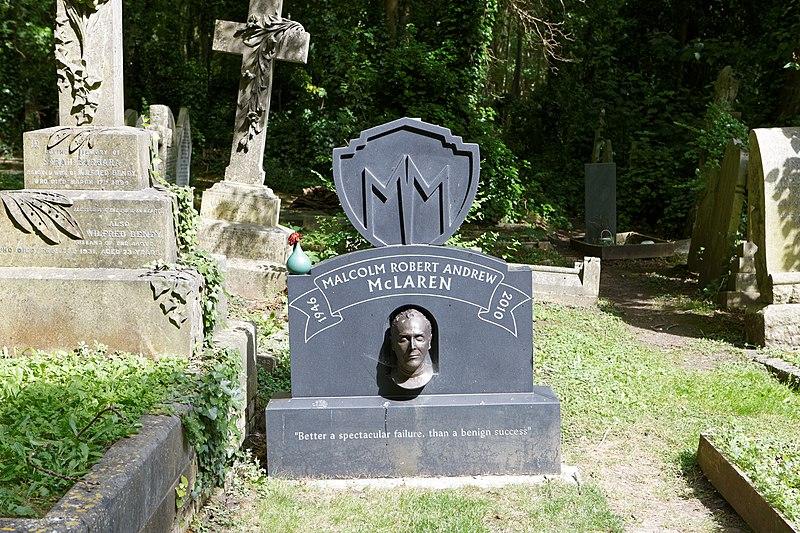 File:Highgate Cemetery - East - Malcolm Robert Andrew McLaren 01.jpg
