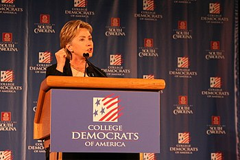 English: Hillary Clinton Speaks to College Dem...