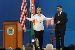 University of Delhi - U.S. Secretary of State Hillary Clinton speaks at the University of Delhi, India 19 July 2009.