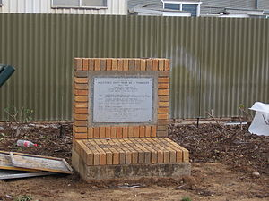 Hillston, New South Wales - Memorial marking the centenary of the establishment of the town
