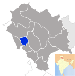 Location of Hamirpur district in Himachal Pradesh