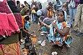 Hindu Devotees Pray To Ganga - Makar Sankranti Observance - Baje Kadamtala Ghat - Kolkata 2018-01-14 6527.JPG