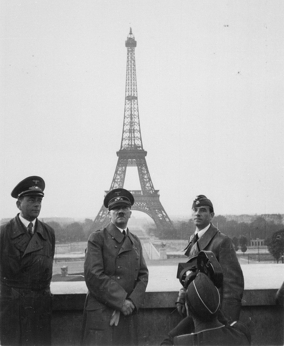 Hitler, Speer y Breker en París, 23 de junio de 1940