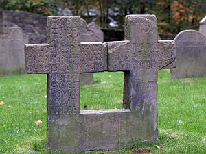 St. Peter, Syburg - Ancient gravestones in the churchyard