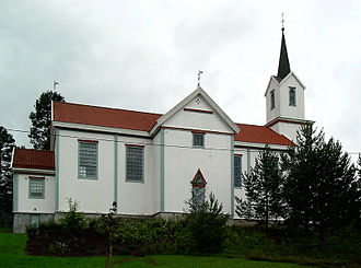 Prestfoss - Holmen Church in Prestfoss