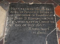 Holy Innocents, Great Barton - Ledger slab (geograph 3127429).jpg
