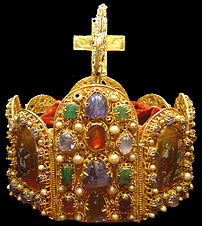 The crown of the Holy Roman Empire (2nd half of the 10th century), now held in the Vienna Schatzkammer