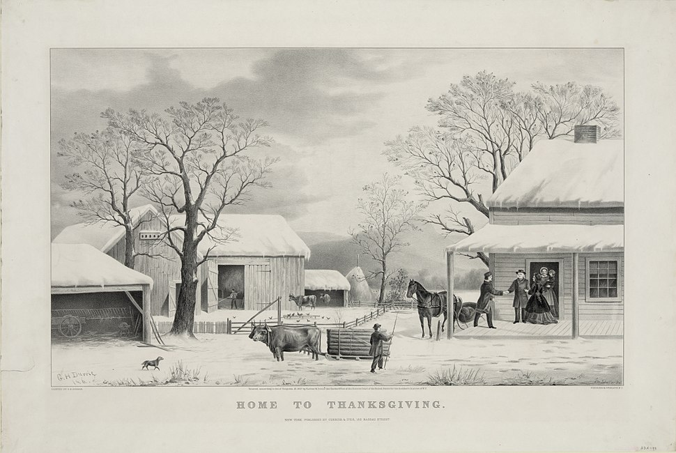 Home To Thanksgiving, Currier and Ives