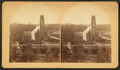 Hope, Indiana, Moravian church and parsonage, Sth Main Street, from Y.L. Seminary, from Robert N. Dennis collection of stereoscopic views.png