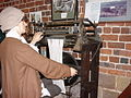 Hosiery knitting exhibit in the museum - geograph.org.uk - 173889.jpg