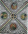 Hosios Loukas Crypt (central groin vault) - Eustace, Mercurios, Nicetas and Nestor.jpg