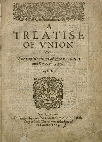 Scottish independence - A treatise of union of the two realmes of England and Scotland by John Hayward, 1604