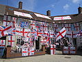 Houses decorated with England flags, Speke.jpg