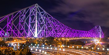 Howrah bridge betwixt Lights