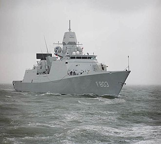 Active Phased Array Radar - APAR aboard the Royal Netherlands Navy De Zeven Provinciën class frigate HNLMS Tromp.