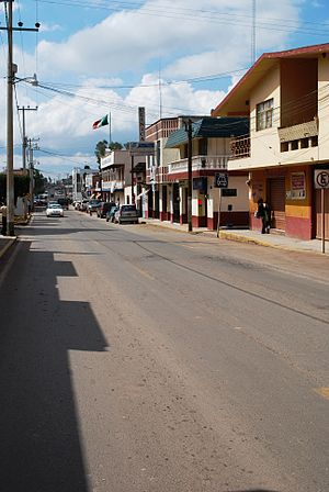 Acatlán, Hidalgo - Main street through town
