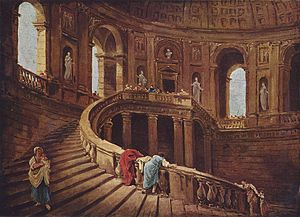 Villa Farnese - The Scala Regia in the Villa Farnese