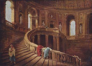 Escalier tournant du palais Farnèse à Caprarola