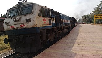 Deccan Odyssey - Image: Hubli Junction railway station based WDP4 at Madgaon railway station hauling the Deccan Odyssey
