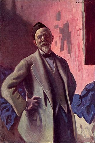 Hugo von Habermann - Self-portrait (1914)