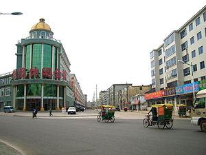 Uma rua em Hunchun