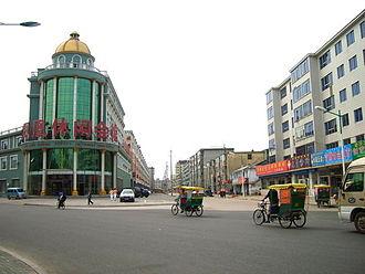 Hunchun - A street in Hunchun