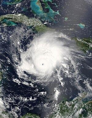 Hurricane Emily (2005) - Image: Hurricane Emily 16 july 2005 1545Z