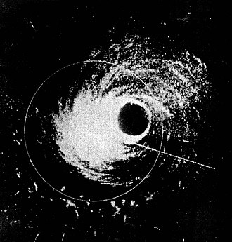 Hurricane Hattie - Image: Hurricane Hattie radar 30 Oct 1961 cropped