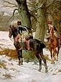 Hussards anglais du 10e régiment en reconnaissance pendant la campagne de La Corogne.jpg
