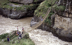 Bridge in use during the rainy season.