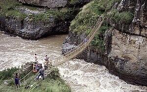 Bridge in use during the rainy season.