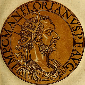 Florianus - An illustration of Florianus, based on coins minted bearing his image.