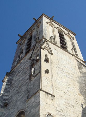 French Wars of Religion - Traces of iconoclasm at Eglise Saint Sauveur, in La Rochelle.
